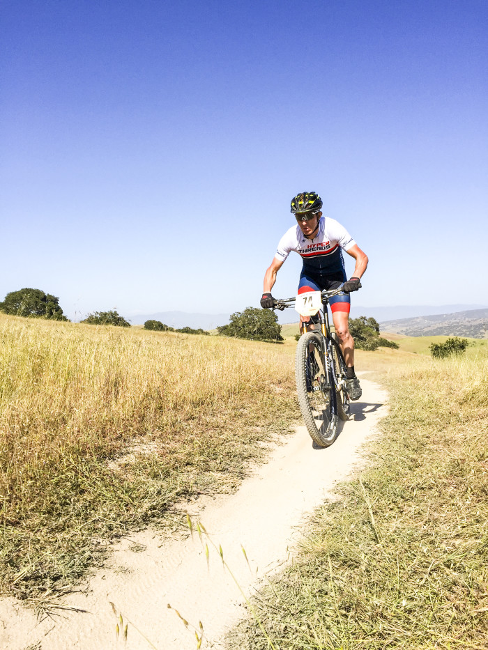 Testing out the trails and some fresh clothing, at the 2015 Sea Otter Classic